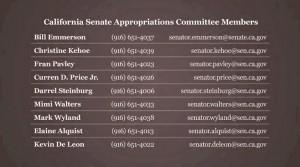 California Senate Appropriations Committee Members