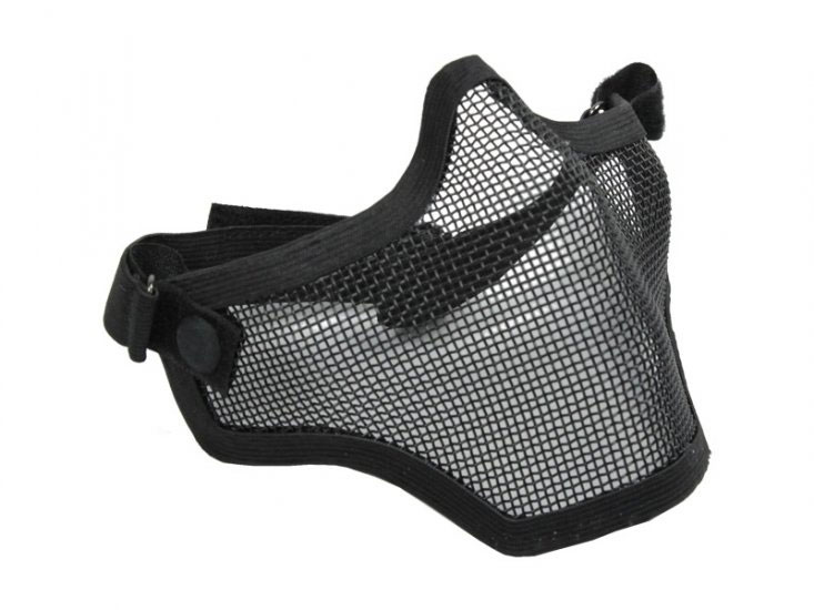 Bravo V.1 steel mesh half mask (BLACK)